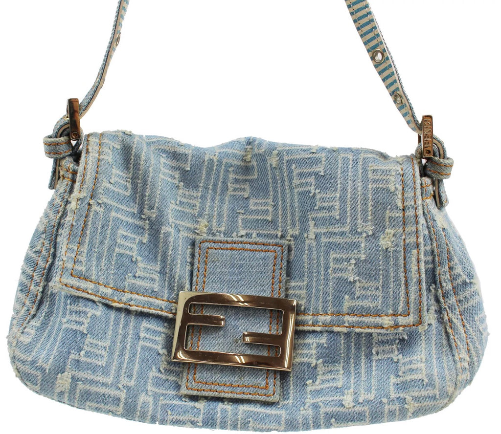 ... RARE FENDI DENIM SHOULDER BAG 5212400598855