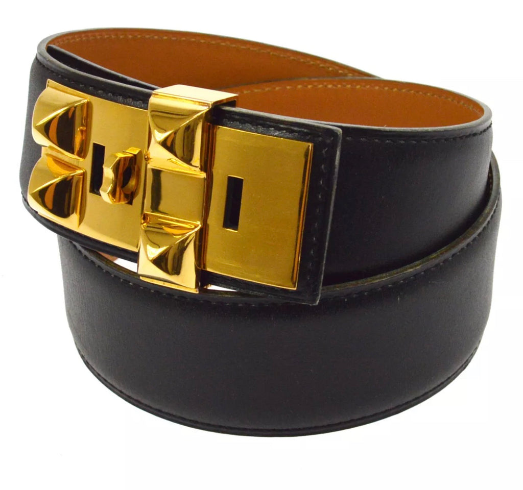 HERMÉS CDC DOG COLLAR BELT, XS/SMALL