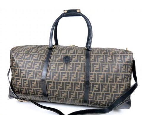FENDI FF ZUCCA MONOGRAM DUFFEL BAG WITH STRAP