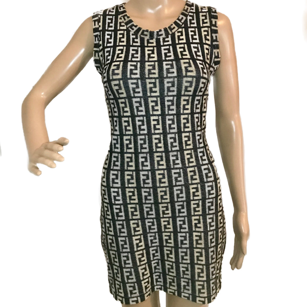 Kylie Jenner FENDI FF Vintage tank dress, IT42