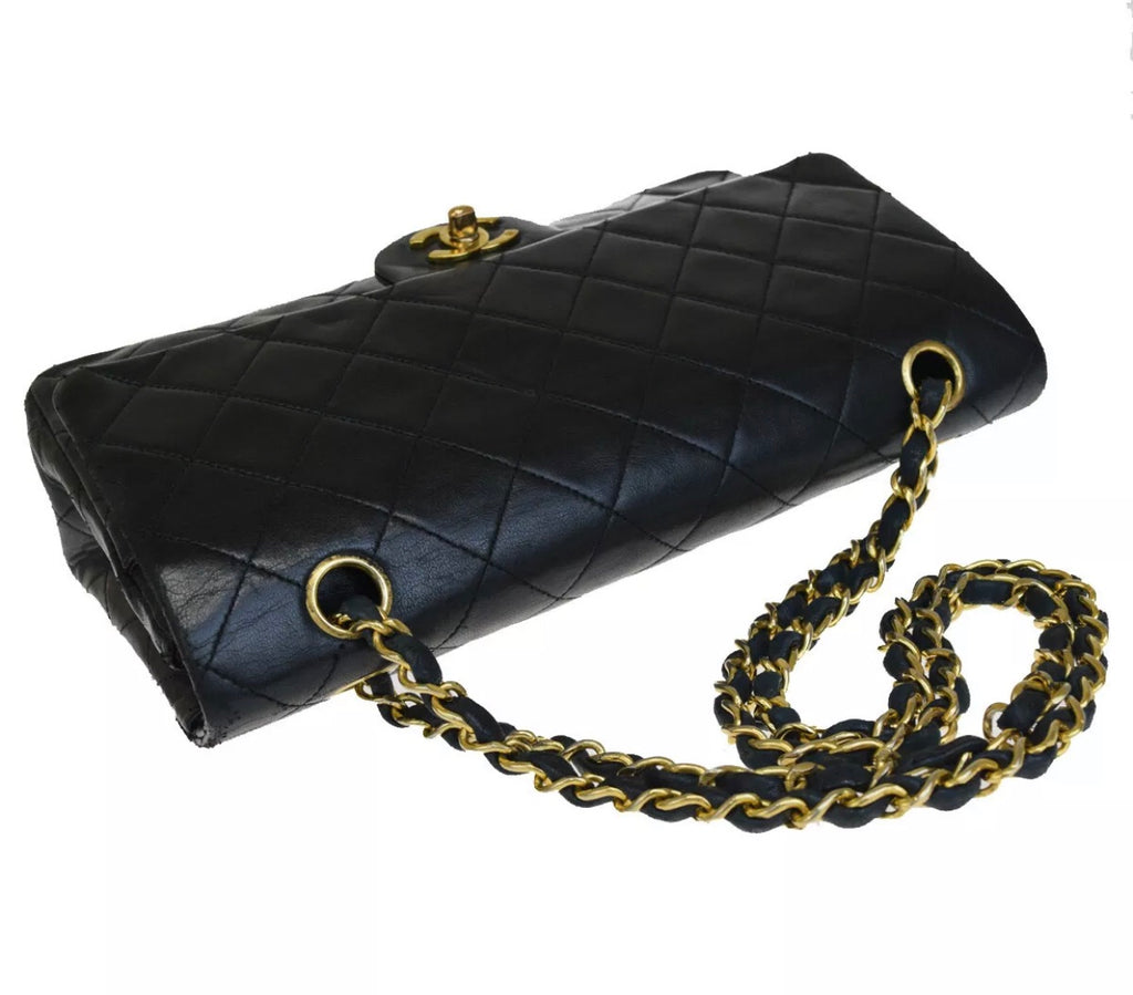 "CHANEL 2.55 Classic Flap 10"" Medium Black GHW"