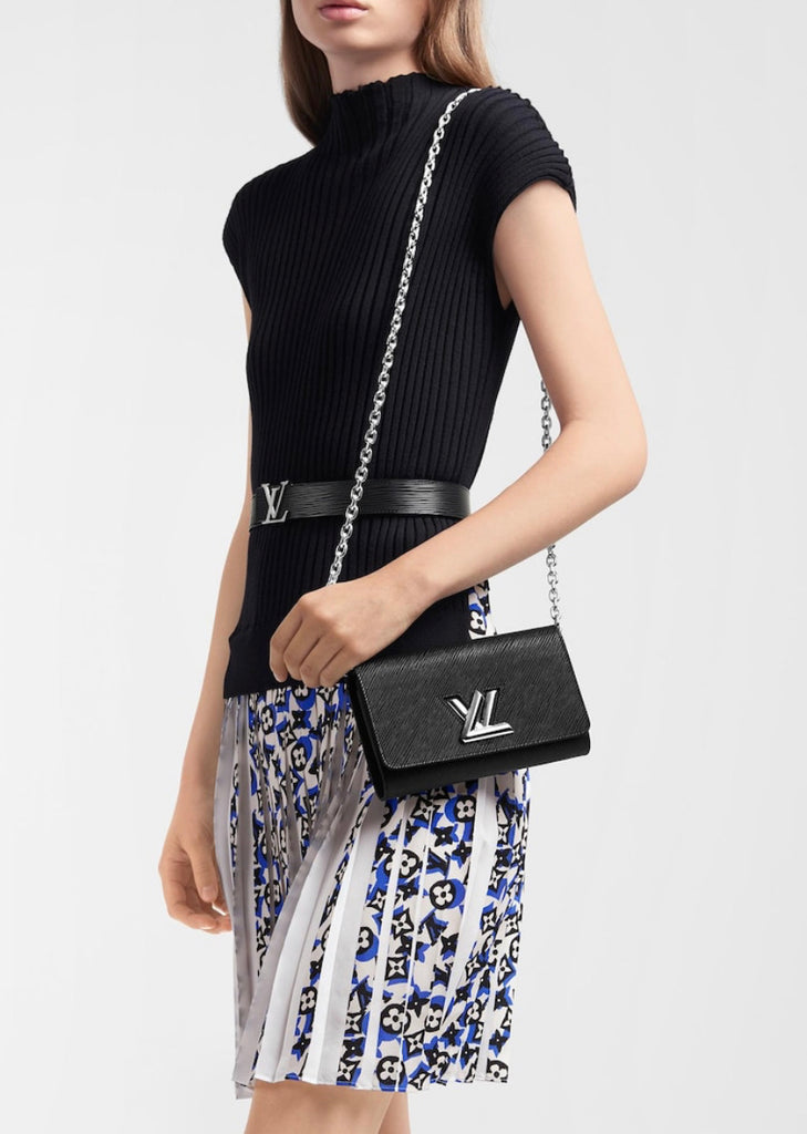 Louis Vuitton Twist Chain Wallet, Epi Noir