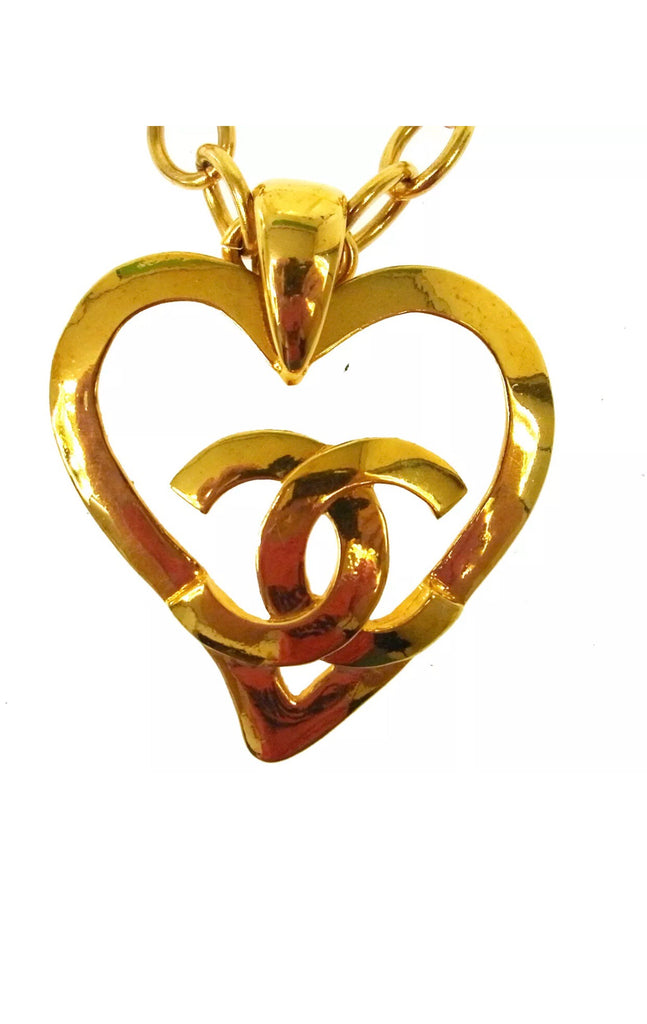 "Vintage CHANEL CC Logo ""Love"" Necklace"