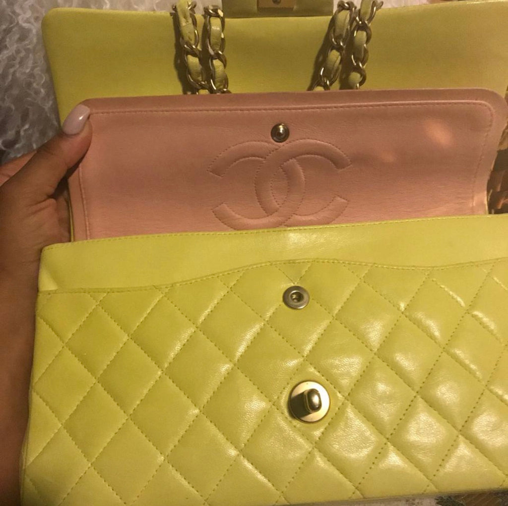 Yellow CHANEL 2.55 Flap Bag GHW