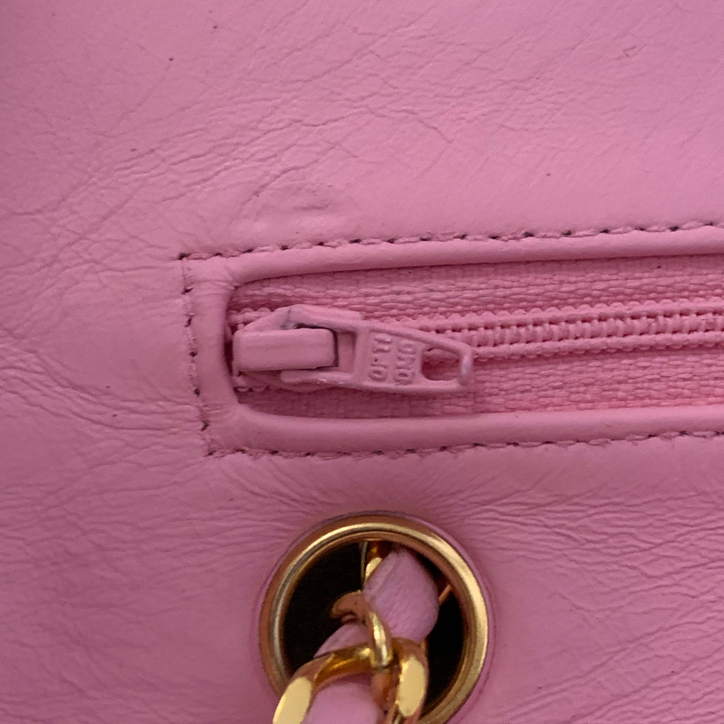 "Vintage CHANEL 2.55 Classic Flap 9"", Pink"