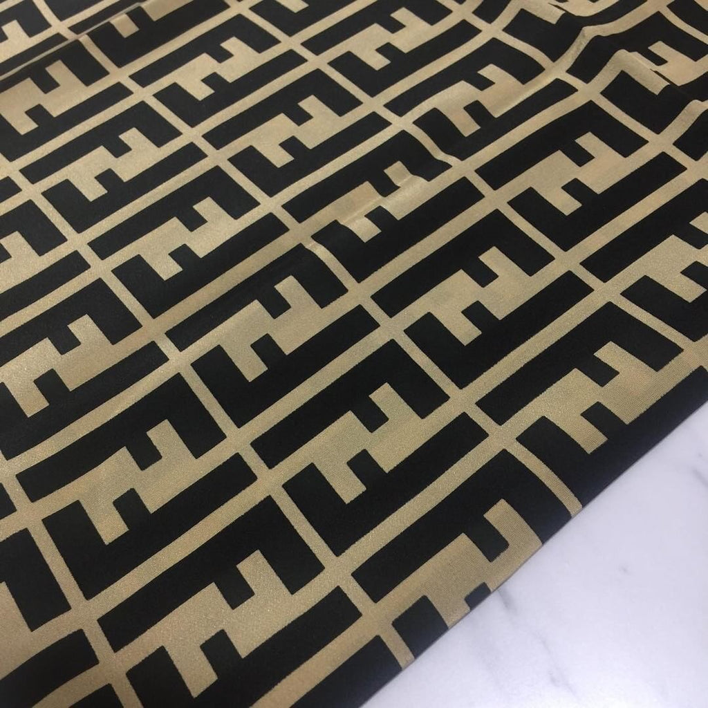 RARE FENDI LARGE SILK LOGO SCARF WRAP