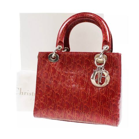 Christian Dior Lady Dior Patent Bag, S/M