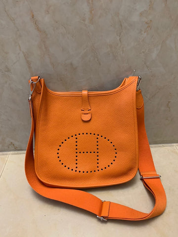 HERMES EVELYNE PM BAG, ORANGE