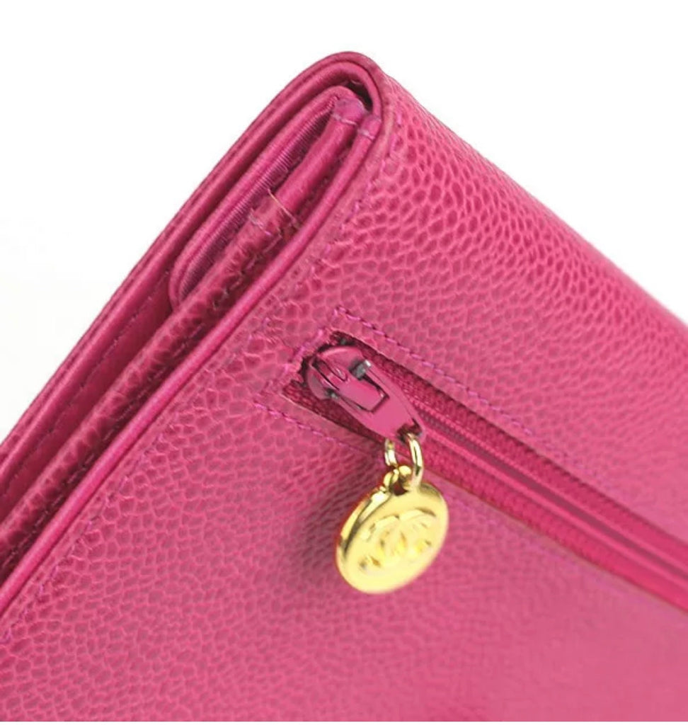 Pink Caviar CHANEL Clutch Wallet