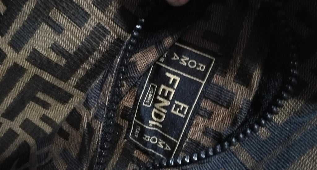 Vtg FENDI Unisex Monogram Reversible Coat
