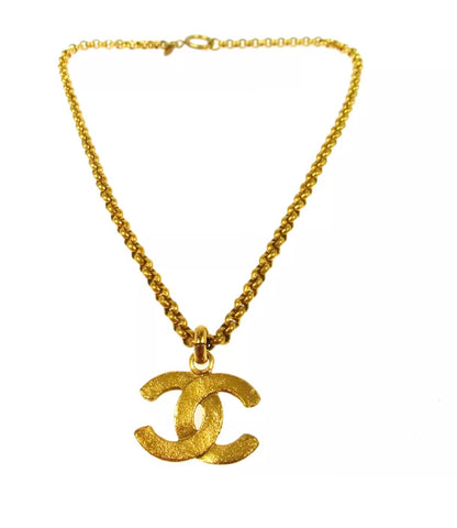 VTG CHANEL CC LOGO PENDANT NECKLACE