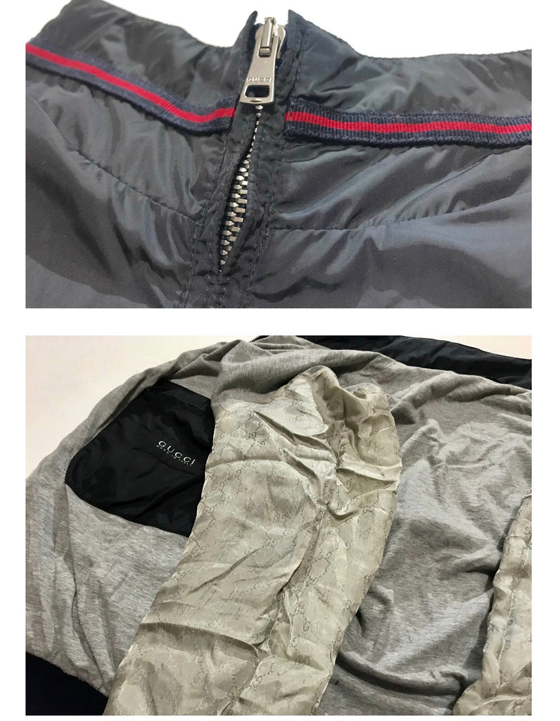 Vintage Gucci Unisex Bomber Jacket with Web