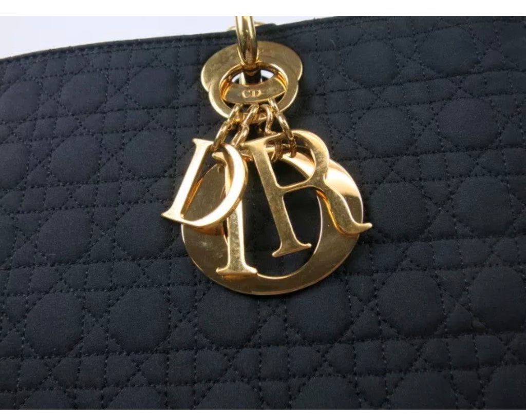 "Black Christian Dior ""Lady"" Bag, Medium/Large"