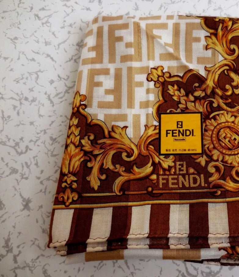 FENDI FF Monogram Silk Handkerchief