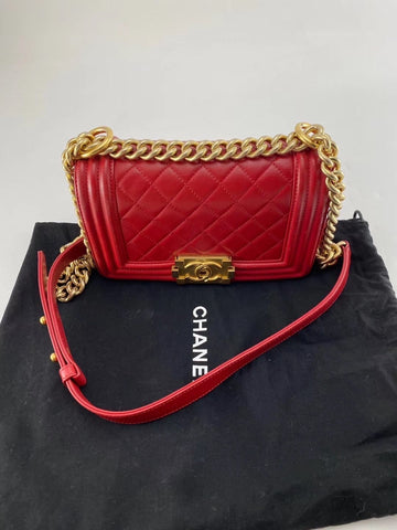 100% AUTH CHANEL BOY BAG SMALL