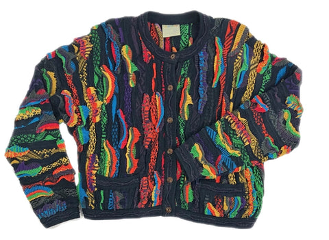 Vtg COOGI Button Up Sweater, L