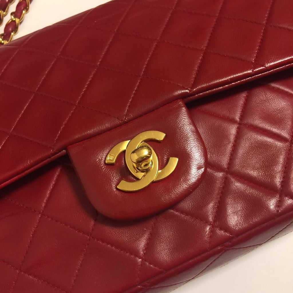 SOLD OUT ON PAYMENT PLAN - Vintage Red CHANEL 2.55 Medium Flap Bag
