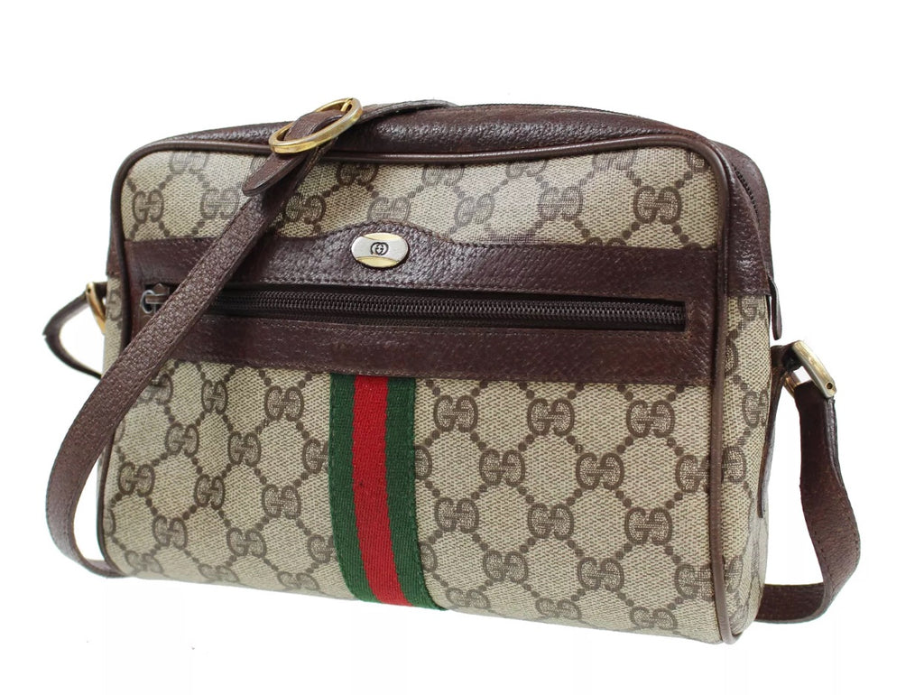 "aefa31280 Vintage GUCCI Supreme ""Ophidia"" Style Camera Bag - Luxury Locker"