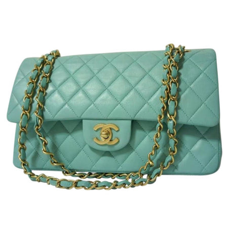 "Chanel 2.55 Classic Flap 9"" Mint Green"