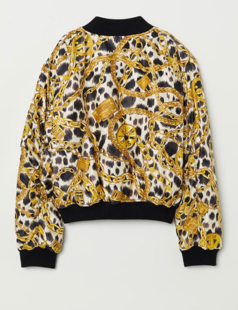 H&M x Moschino Patterned Bomber Jacket