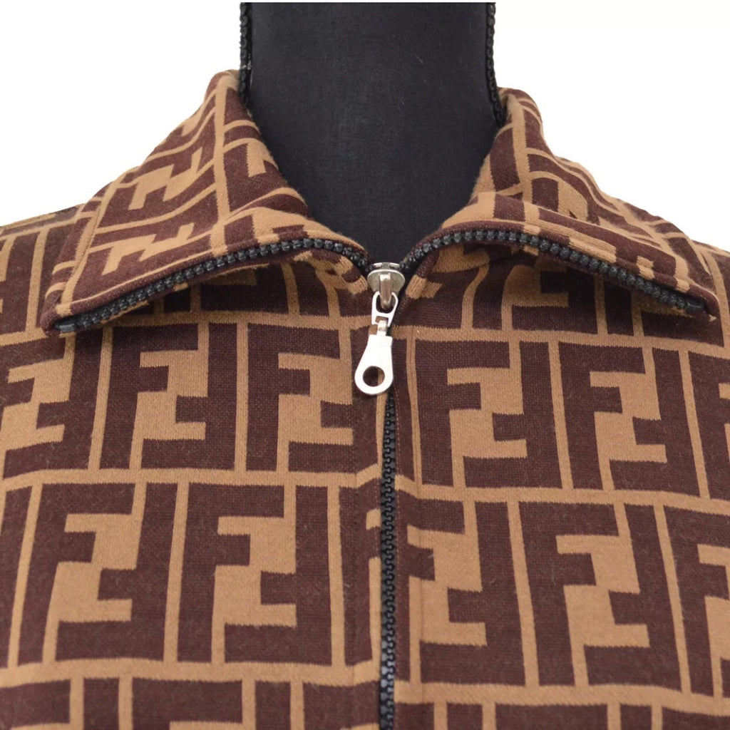 FENDI FF Monogram Bomber Jacket, Smalll