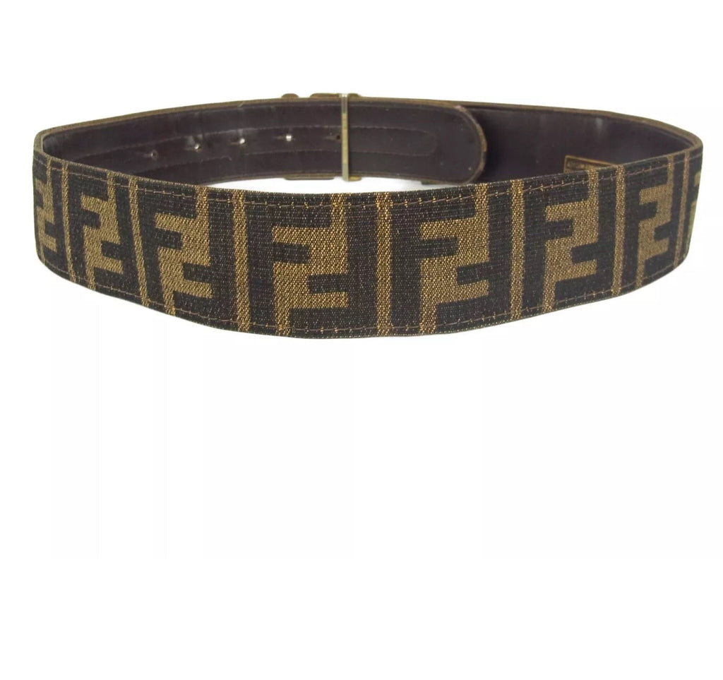 FENDI FF MONOGRAM LOGO BELT, 70/28