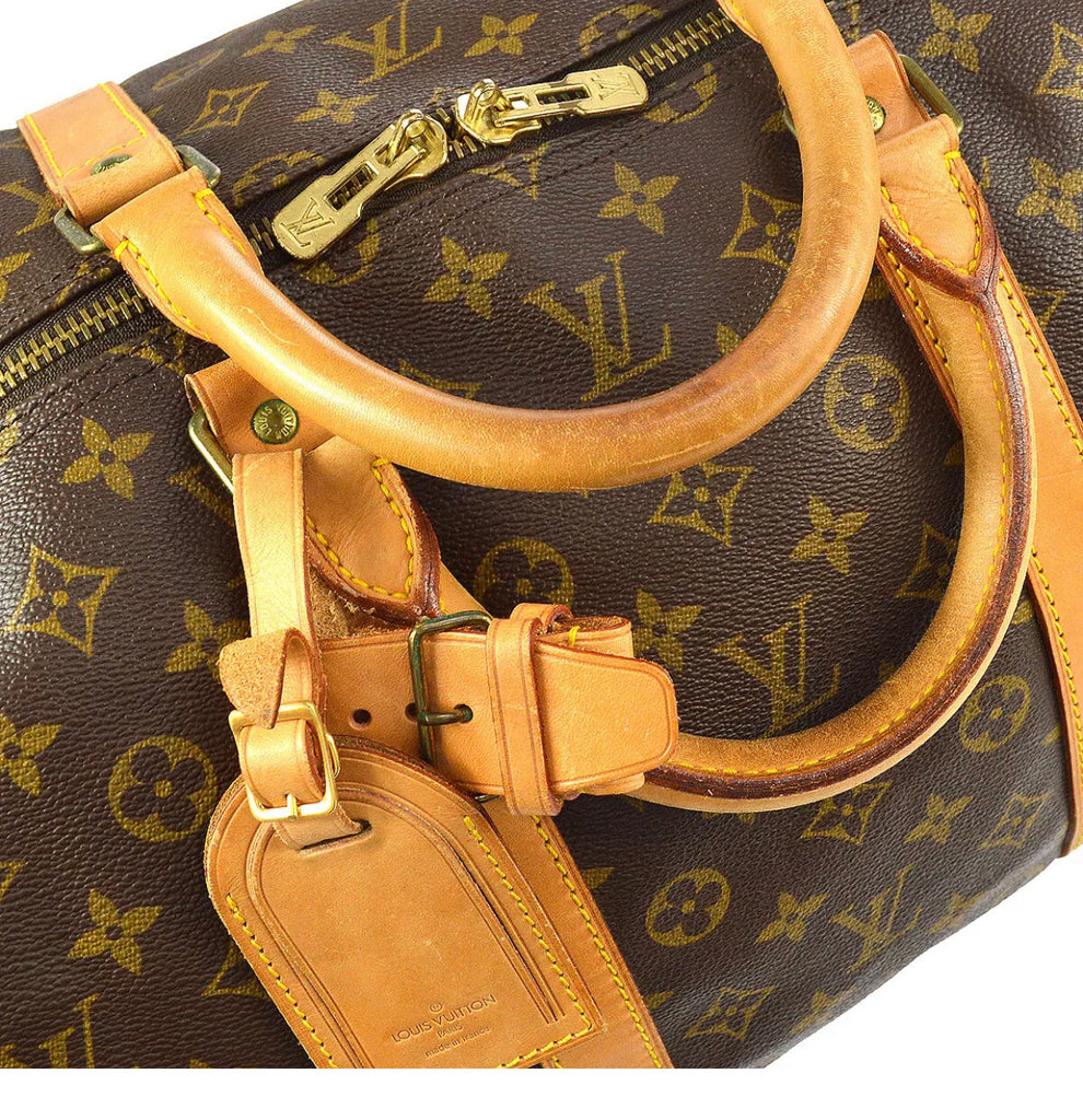 Vtg Louis Vuitton Keepall 55 Duffel Bag