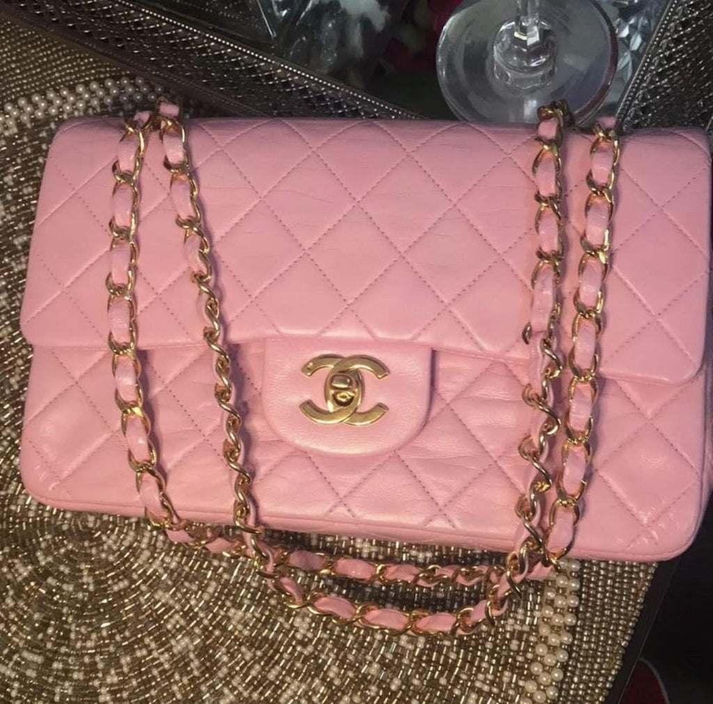 Pink Chanel 2.55 Classic Flap Medium 10""