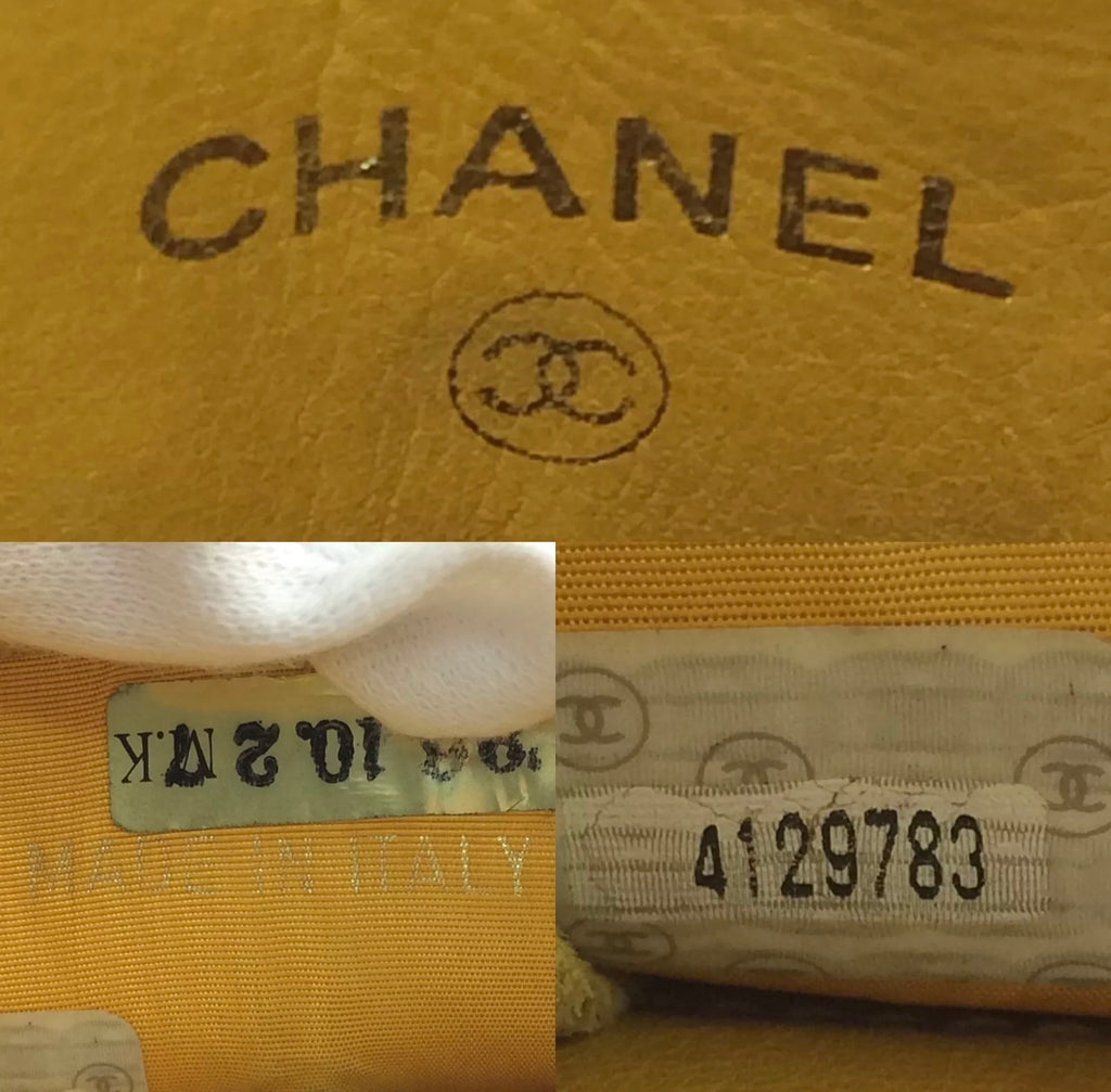 Vtg CHANEL Caviar Crossbody Phone Case