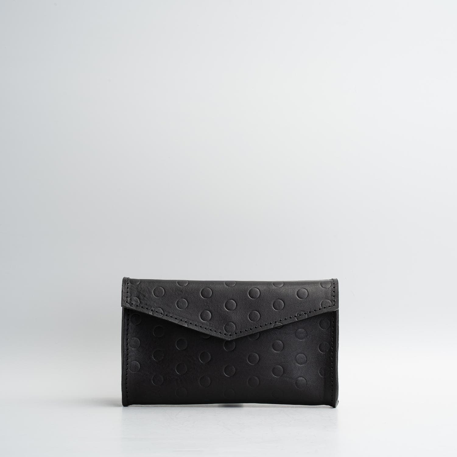 black fanny pack leather