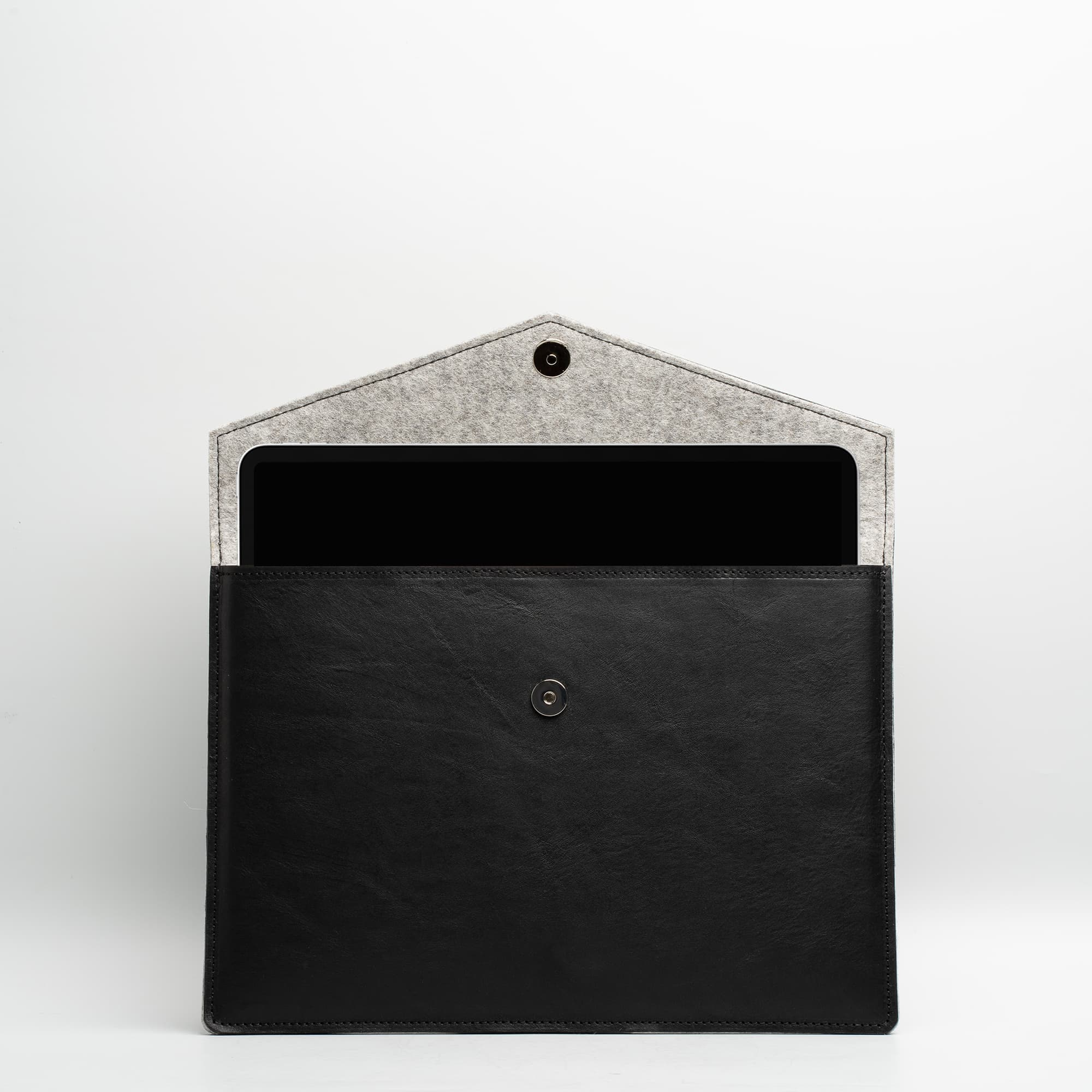 "black leather ipad pro 12.9"" sleeve"