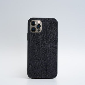 black iphone 12 pro leather case