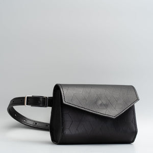 Black Leather Fanny Pack - Amsterdam