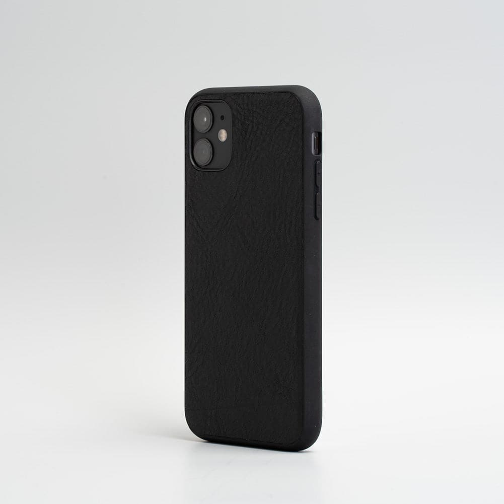 black leather iphone 11 case