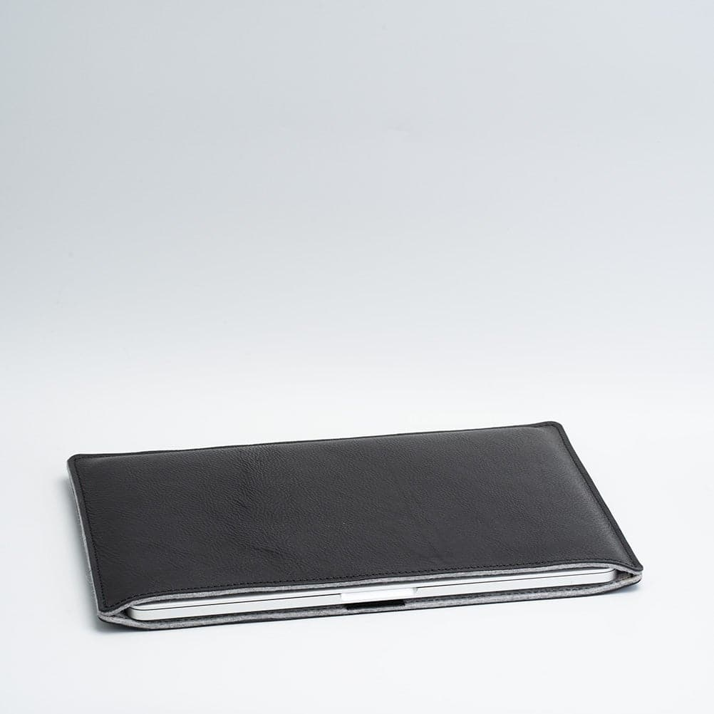 black leather macbook 13 sleeve