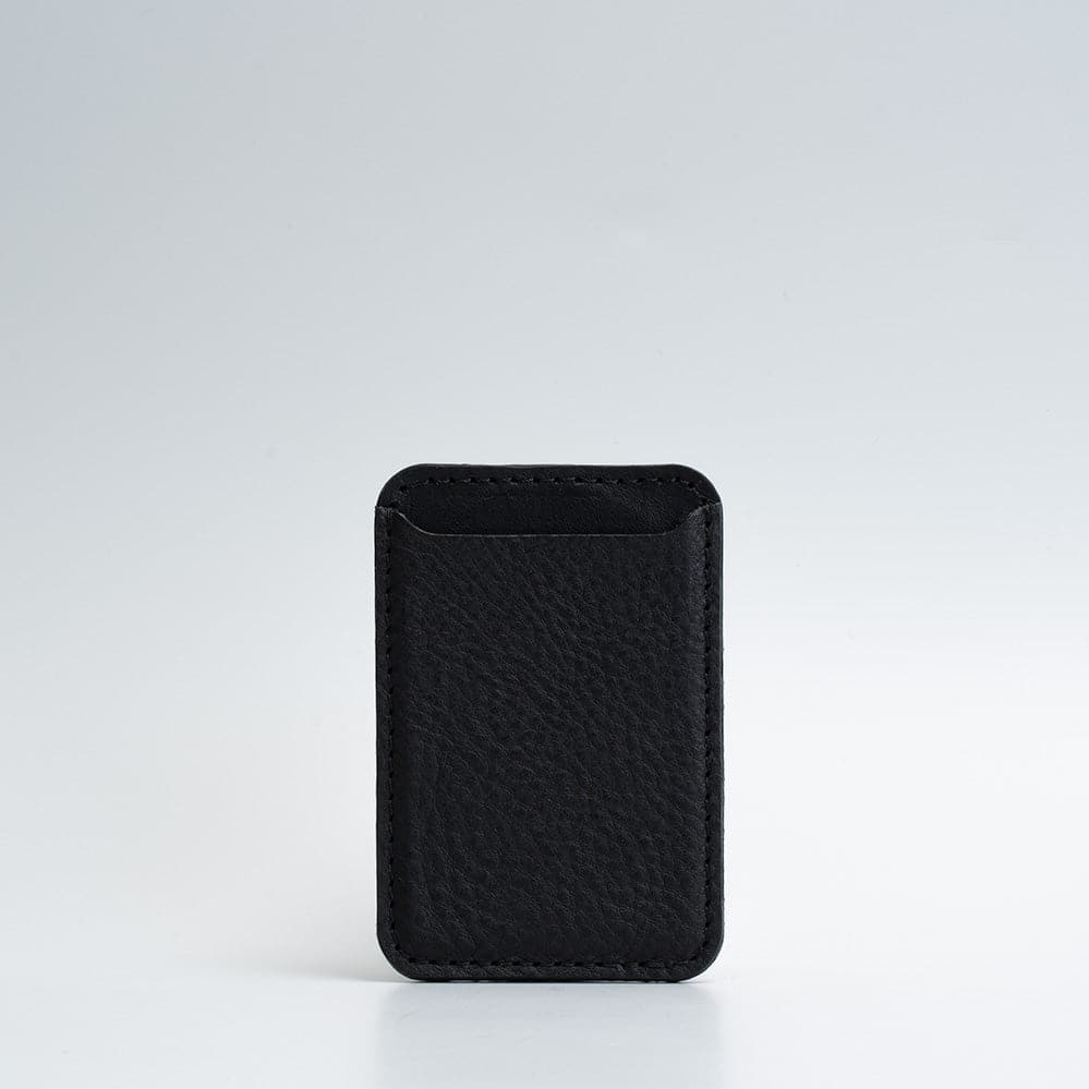 black leather magsafe wallet
