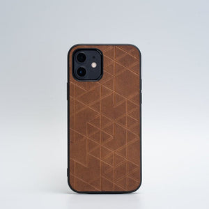 brown iphone 12 leather case