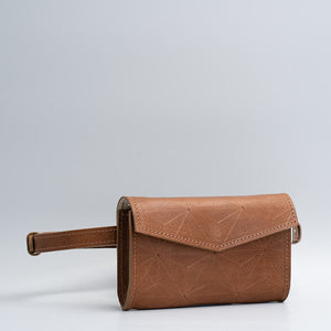 brown leather waist bag
