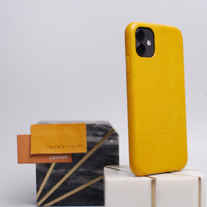 leather iphone 11 case yellow