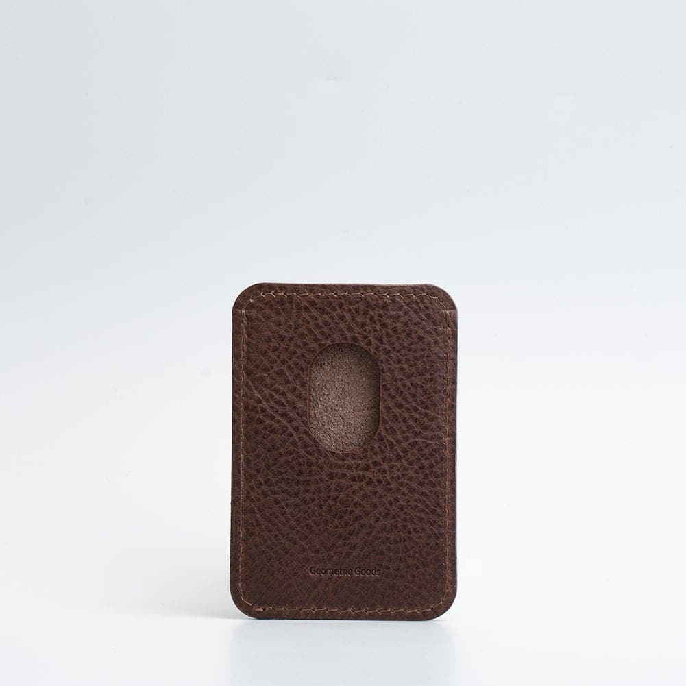 chocolate brown magsafe card holder
