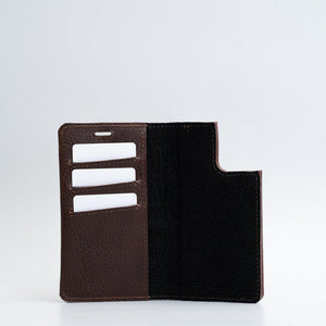 Leather folio wallet with MagSafe 3.0 - The Minimalist