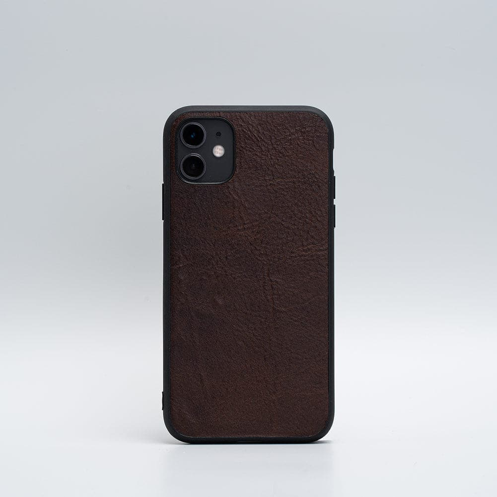 dark brown iPhone 11 leather case