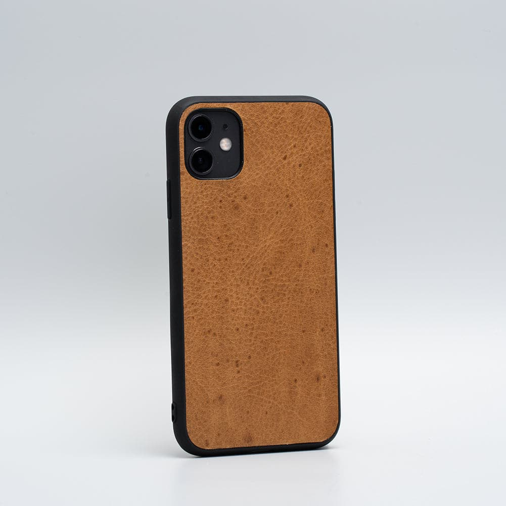 full grain iPhone leather case