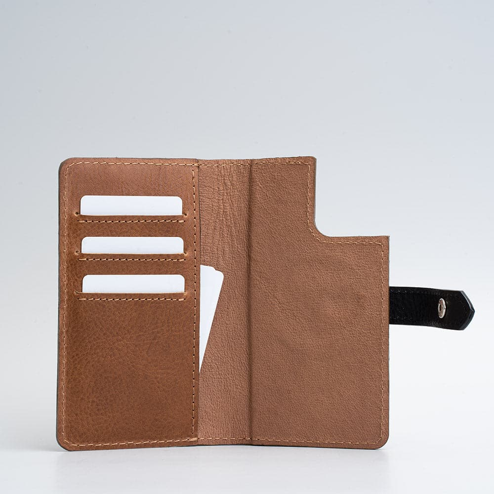 leather iPhone 12 Pro folio wallet with magsafe