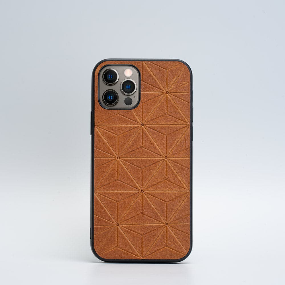 iPhone 12 Pro Leather case - Geometryczny Kwiat