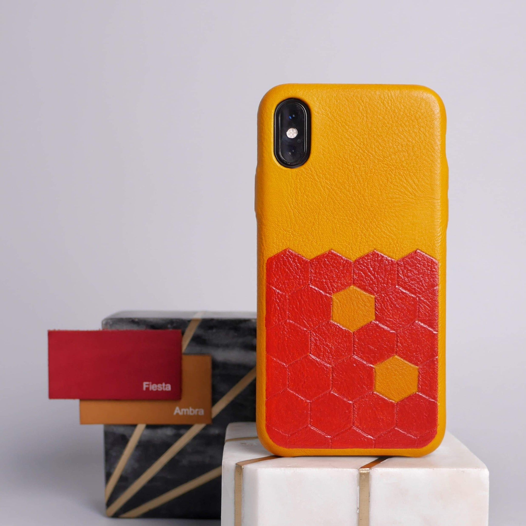 iPhone Xs leather case