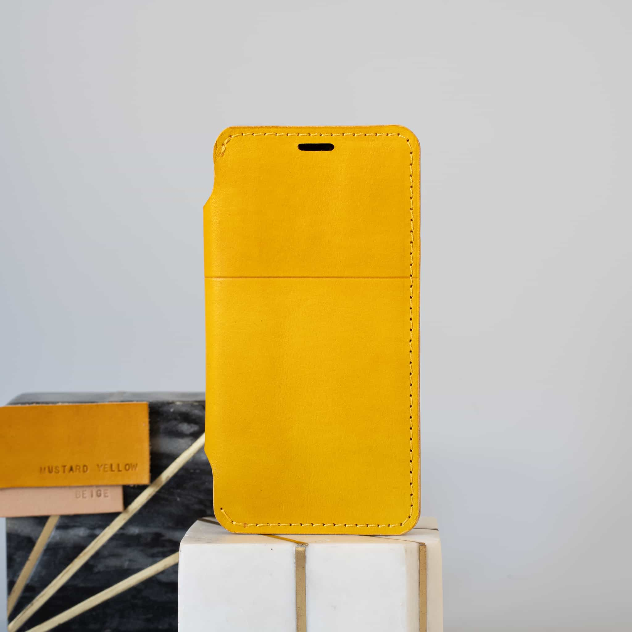 Leather iPhone wallet case