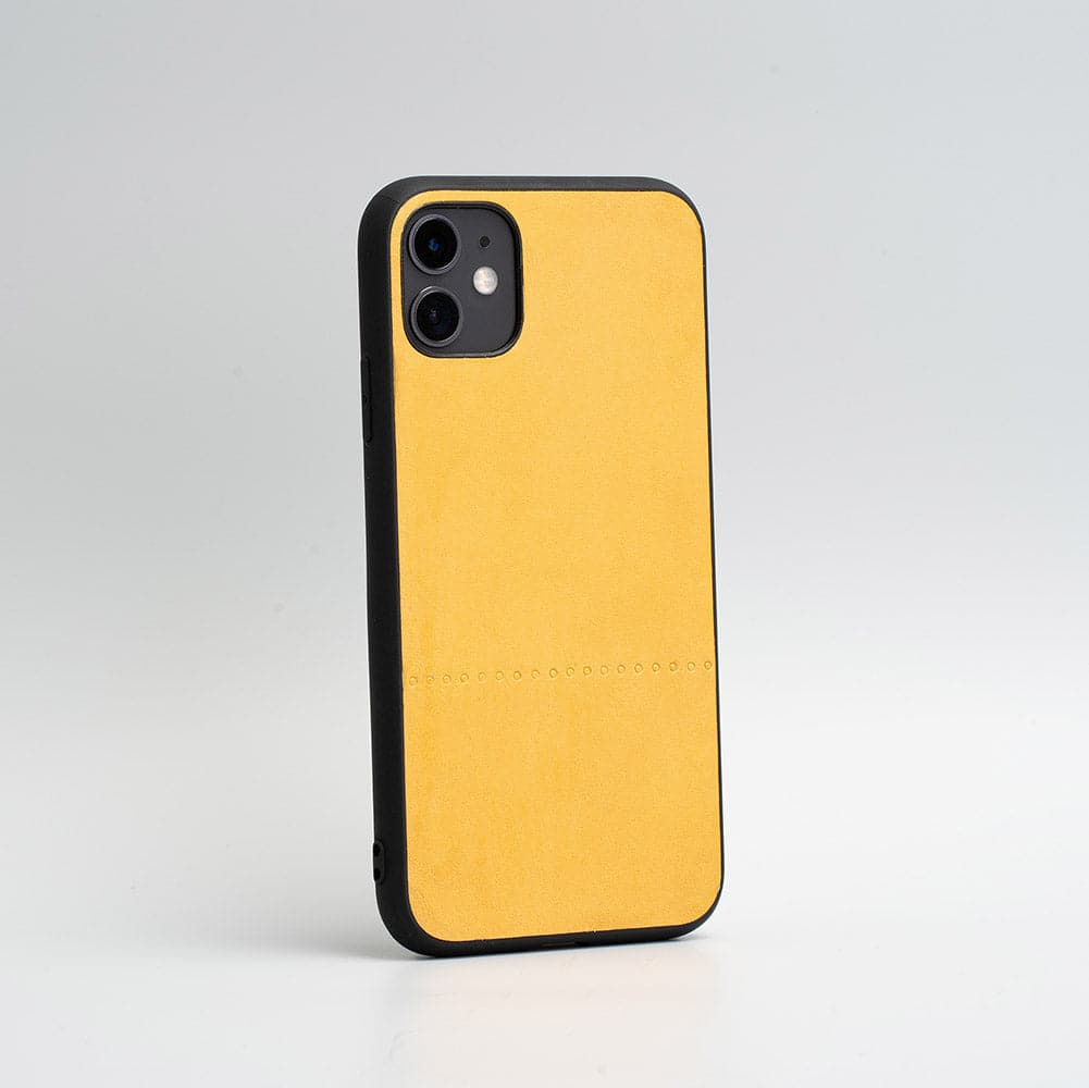 iphone 11 yellow leather case