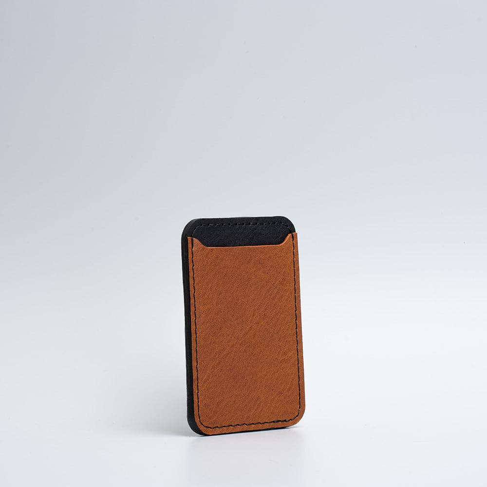 leather magsafe wallet tan