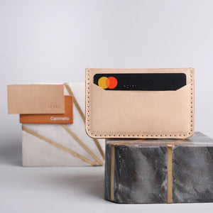 Leather Card holder - Vol.1 Beige